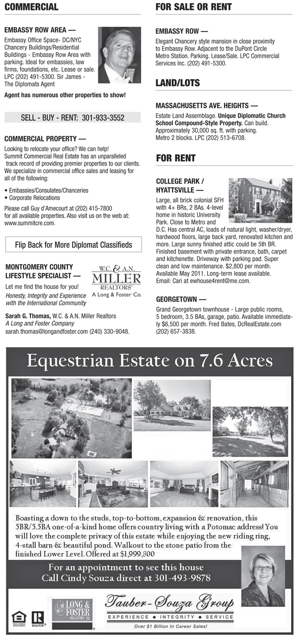 Real Estate Classifieds – March 2011