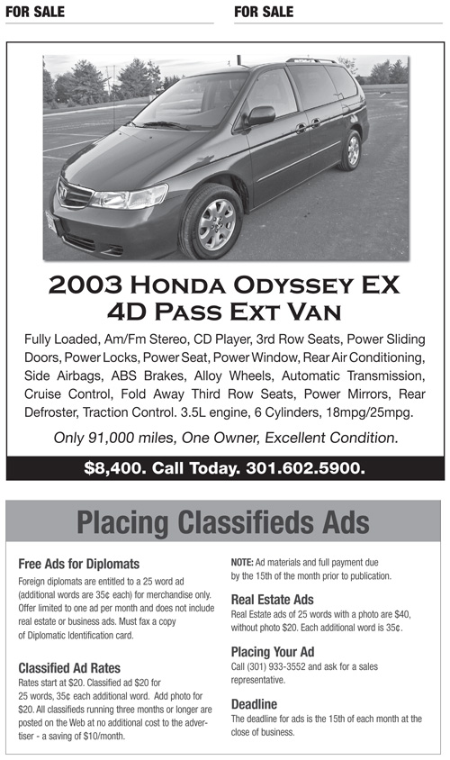 Classifieds – November 2011