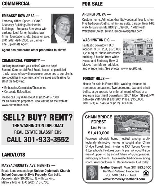 Real Estate Classifieds – November 2011