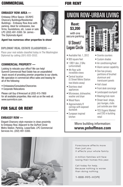 Real Estate Classifieds – January 2012