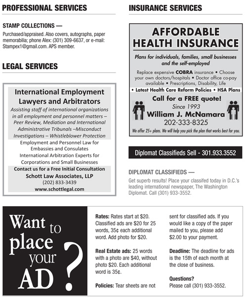 Classifieds – May 2012