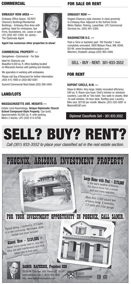 Real Estate Classifieds – May 2012
