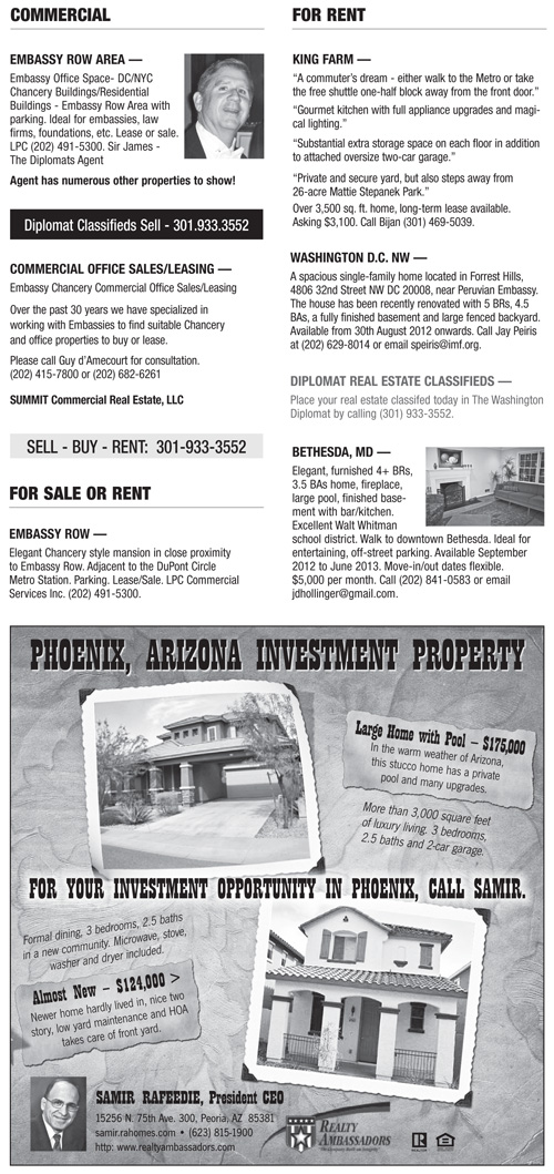 Real Estate Classifieds – August 2012