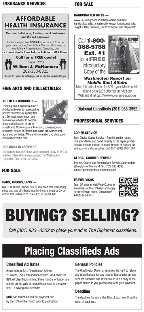 Classifieds – January 2013