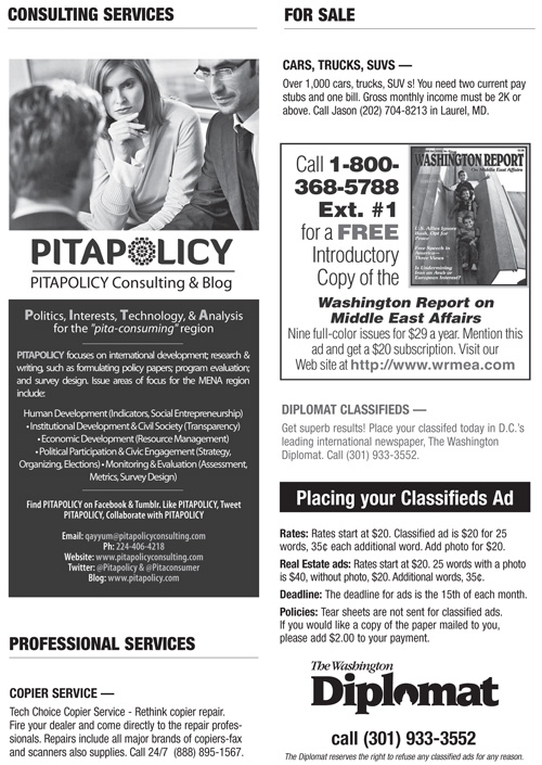 Classifieds – May 2013