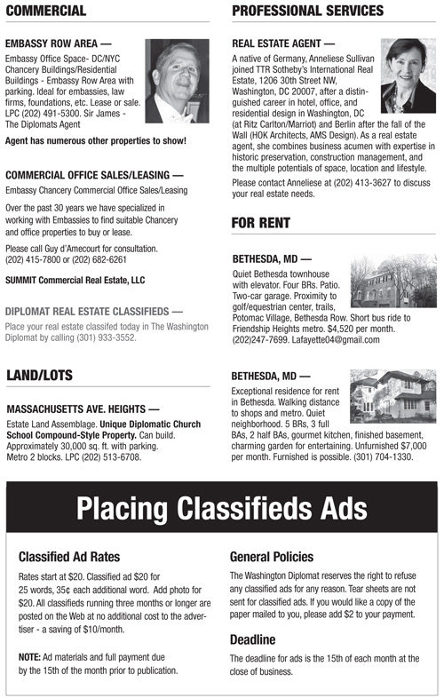 Real Estate Classifieds – April 2013
