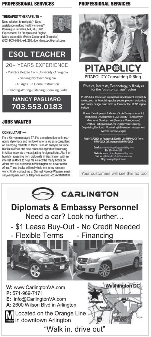 Classifieds – October 2013