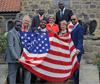 English Sister City Celebrates America's Victory Over the English