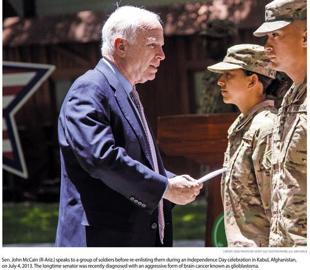 Senator McCain Faces Aggressive Brain Cancer Foe in Glioblastoma
