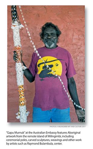 Australian Embassy Celebrates Aboriginal Artists from Remote Island of Milingimbi