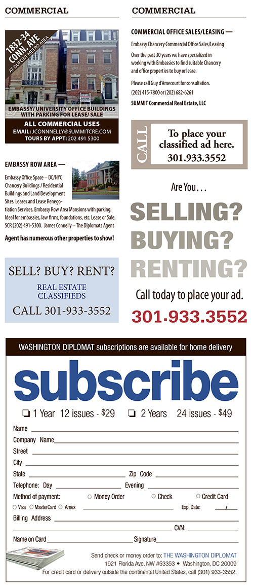 Real Estate Classifieds – March 2018
