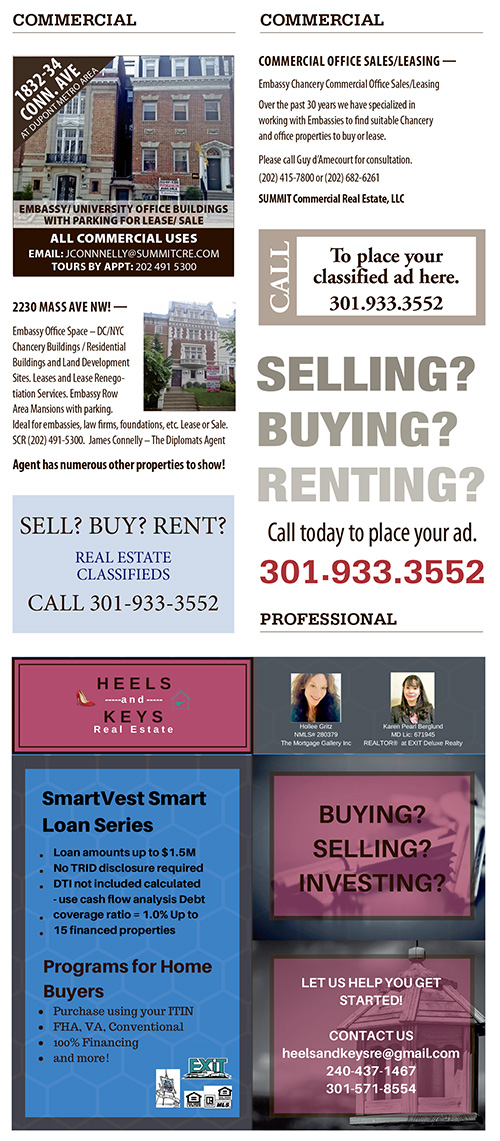 Real Estate Classifieds – June 2018