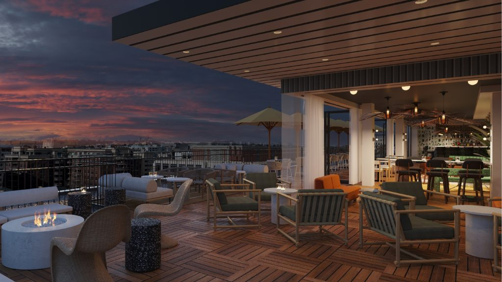 The Lady Bird rooftop bar at the new Banneker Hotel in Dupont Circle